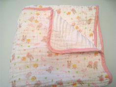 6 Layer Comfy  Cotton Muslin Blanket by SophieTheBoutique on Etsy, $33.00