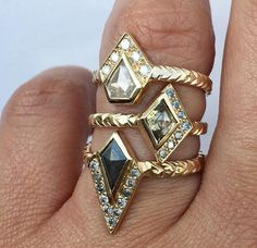 Army Of Rokosz diamond and gold rings