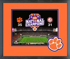 Clemson Tigers 2016 National Champions 11 x 14 Team Logo Matted/Framed Photo