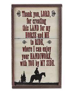 Montana Silversmiths Sign - Lord's Handiwork