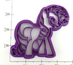 My Little Pony Rarity Cookie Cutter by WarpZone on Etsy, $6.00