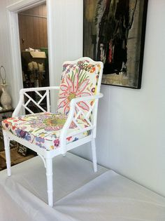Vintage Faux Bamboo Arm Chair