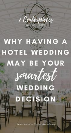This article contains THE BEST reasons for having a hotel wedding! Don't book your wedding venue until you've read this! It has some great advice--PIN IT NOW!