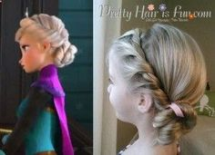 Girls Hairstyles: Elsas Coronation Hairstyle from Disneys FROZEN