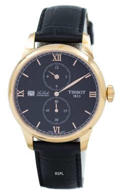 Tissot Le Locle Automatic Regulateur Men's Watch Tissot Mens Watch, Le Locle, Authentic Watches, Stainless Steel Case, Gold Watch, Omega Watch, Watches For Men, Black Leather, Rose Gold