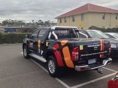 Vehicle wrapping for iinet. Vinyl stickers and one way vision prepared and installed by Sign A Rama staff.