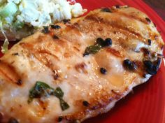 Grilled Basil-Marinated Chicken