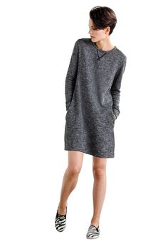 French Terry Tunic by Ellos | Plus Size Casual Dresses | Roamans