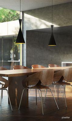 Interior design #rendering #modern #wood #chair