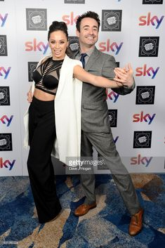 Katya Jones (L) and Joe McFadden attend the TRIC Awards 2018 held at The Grosvenor House Hotel on March 13, 2018 in London, England.