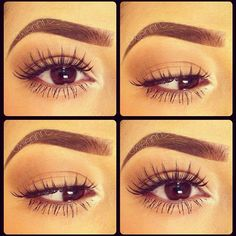 love this. natural eyes with amazing lashes and great brows perfect for everyday!