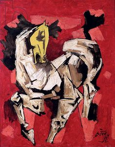 The Prancing Horse - M.F. Husain