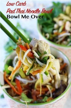 Half the carbs and 100 times better than take out?  Yes - you're going to love this low carb version of Pad Thai!