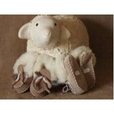 Natural Sheepskin Booties Made by Romney Marsh Wools in #Kent - £24.95