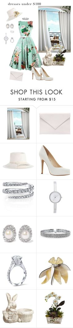 """Dresses under $100"" by mary-kay-de-jesus ❤ liked on Polyvore featuring Commonwealth Home Fashions, Verali, Zimmermann, Jessica Simpson, DKNY, Kenneth Jay Lane, Bling Jewelry, Marni and Transpac"
