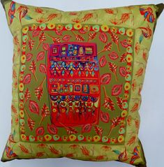 Bohemian Scatter Cushion Cover Original Design by Dorothy du Plessis Digitally Printed on Cotton Twill 45 cm x 45 cm Size and Colour variations on request Scatter Cushions, Blues, Ice Cream, Bohemian, Textiles, Colour, The Originals, Printed, Cotton