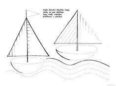 grafomotorický list plachetnice
