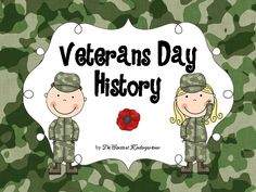#Veterans Day Social Studies - History #Prek , #Kindergarten and #firstgrade. Includes ELA worksheets, graphic organizers, tracing&writing, 4 soldiers templates for craftivities, instructions for one Veterans Day card - craft and an individual (student) Veterans Day booklet.