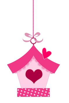Pink in Love Birds Clipart.