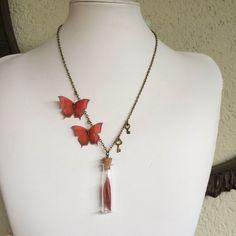 Little Treasure  Handmade Red Butterflies by TheButterfliesShop