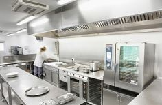 A commercial kitchen is a large-sized kitchen that is found in schools, hospitals, restaurants and hotels. These hotels are larger in size and they are different from