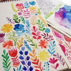 Watercolor love by Markova on Behance #art #sketchbook #floral #botanical…