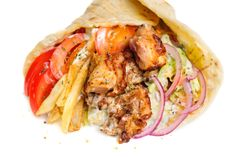 Learn how to make and prepare the recipe for gyros made with traditional meat and Greek-style fries. Easy Chicken Gyros With Tzatziki Sauce, Greek Recipes, Meat Recipes, Beef Gyro, Mediterranean Cookbook, Gyro Recipe, Greek Dishes, Eastern Cuisine, Food Cravings