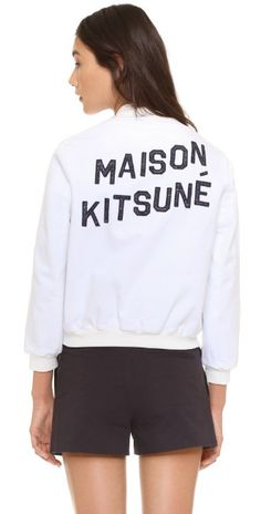 Maison Kitsune Teddy Jacket | SHOPBOP