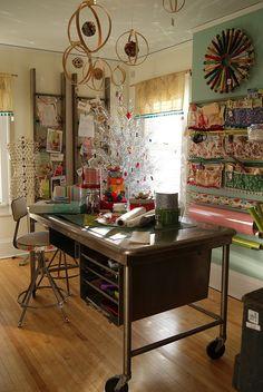 gift wrap & sewing room by saganaga, via Flickr