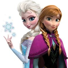 Anna and Elsa from Frozen, which was a damn cute movie!!!