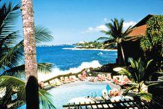 Main Pool at the Sea Village Resort on the Big Island  #resortime   #hawaiipoolsidecontest