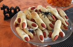 I need to make these spooky Halloween lady fingers again soon!  Designed by Amy Locurto at LivingLocurto.com