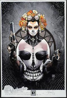 Peter Steigerwald Lady Mechanika La Dama de Los Muertos Fine Art Print XX 75   eBay