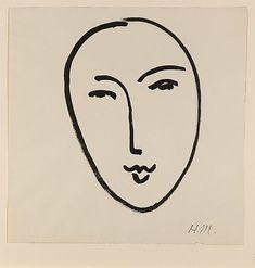 Grand Visage (Masque) Henri Matisse (French, Le Cateau-Cambrésis 1869–1954 Nice)