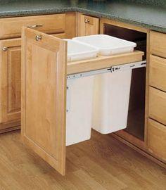 "Amazon.com: Rev-A-Shelf 50Qt Double Top Mount 18in wide: Home & Kitchen Dimensions: 18""w x 23 1/4""d x 21 3/4""h"