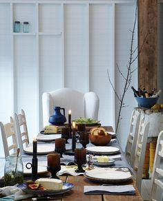 Rustic Winter Dining Room // Photographer Michael Graydon // House & Home March 2010 issue