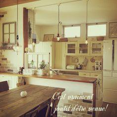 キッチンの照明/ダイニング照明/ステンドグラス/イギリスアンティーク/食器棚DIY…などのインテリア実例 - 2014-02-22 11:03:49   RoomClip(ルームクリップ)