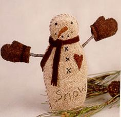 Bob The Snowman (Punchneedle)