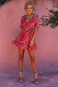 Minute By Minute Dress Red