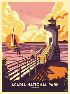 Arcadia National Park Poster on Behance
