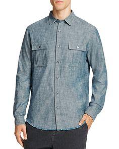 225.00$  Buy now - http://virlj.justgood.pw/vig/item.php?t=ro6nk8v18476 - Vince Distressed Indigo Slim Fit Button-Down Shirt