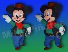 Mickey, Minnie, fiestas, Milly Piñatas exclusivas