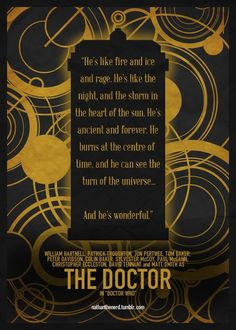 doctor who.. I know I've pinned this saying before, but I want the list of Doctors at the bottom