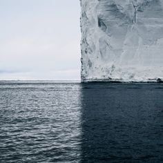 This iceberg photo has four quadrants of color and texture. It's by fine art photographer David Burdeny