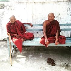 Throw back to the time when we were hanging out with the coolest monks of Myanmar. #wanderlust by dxutiles