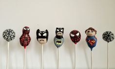 Superhero pops by Gingercups.