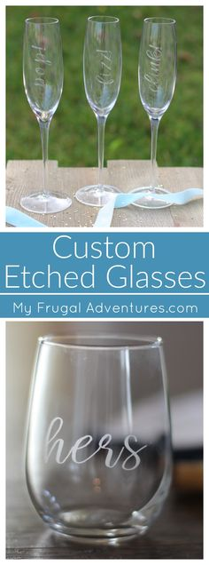 bcbf0ef5f67 DIY Etched Wine and Champagne Glasses  Perfect Gift Idea. Mothers Day ...