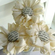 Fabric Bouquet Fabric  Flowers Button Flowers by tracyBdesigns, $18.00