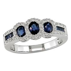 Sapphire And Diamond Rings | Sapphire Rings | Sapphire Engagement Rings | Blue Sapphire Ring for ...