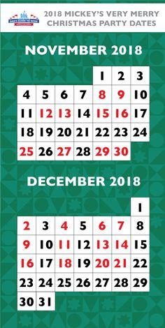 Very Merry Christmas November 2021 Crowd Calendar